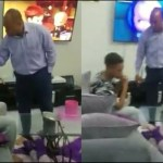 If You Don't Like How I Discipline My Child, Come And Adopt Him- Zambian Man Beating His Son Replies Critics