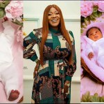 Mercy Johnson Finally Shows The Face Of Her New Born Baby(+Photos)