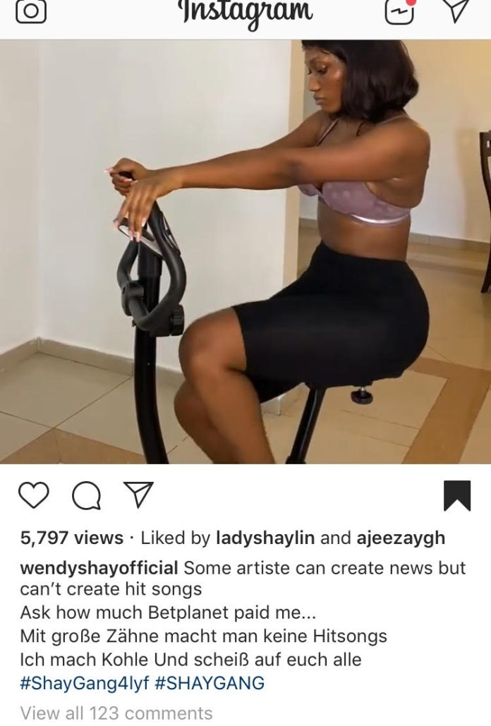 'You Don't Make Hit Songs With Big Teeth' – Wendy Shay Replies Fantana 2