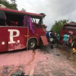 Two dead after VIP buses crash on Asiakwa-Kyebi road