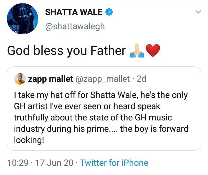 shatta zapp - Shatta Wale React After Zapp Mallet Praised Him