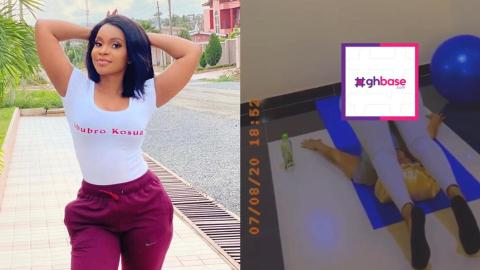 Benedicta Gafah Displaying Her Favorite Yoga Position Accidentally Reveal 'Things'
