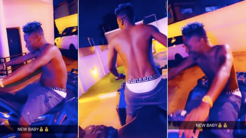 Shatta Wale Buys A Brand New Motorbike And He Can't Keep Calm About It(Video)