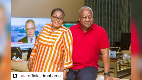 Former President John Dramani Mahama celebrates 28 years of marriage with wife, Lordina