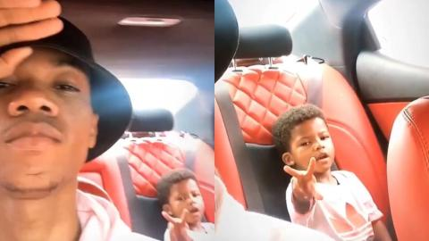 Enjoyment Daddy – Kidi's Son Enjoys Spending Time With Him And Shows Off His Swag
