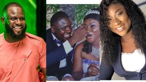 Wife Of Late Kwadwo Wiafe, Reeka Comes Out With An Emotional Message After Her Husband's Burial