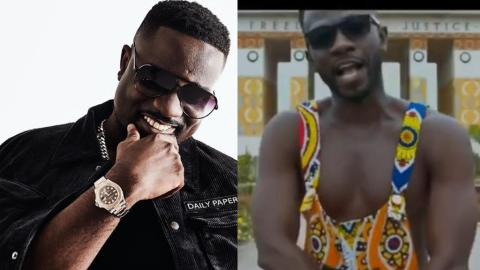 Sarkodie Gives A Crazy Reaction After Okyeame Kwame Gave Him A Shout Out In His New Song