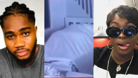 BbNaija Housemates Praise And Ka3na Satisfy Each Other In Bed, As Ka3na Skillfully Carries Her Bumshorts