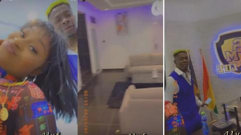 Efia Odo Chills Out The Day With Shatta Wale As She Gives Us A Tour Of Shatta Wale's New Office