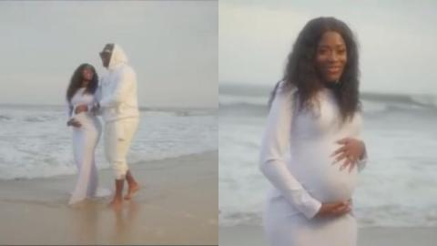 Medikal Shows Off Fella Makafui's Baby Bump In His New Video Featuring King Promise