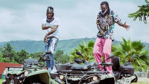 Stonebwoy Gives Adebayor A Musical Treat And 'Putuu' Moments As He Visited Him In Togo (Video+Photos)