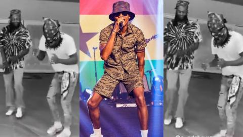 Kidi's Say Cheese Causes Stonebwoy And Adebayor To 'Misbehave' As They Dance To It