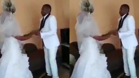 Groom Speaks in Tongues After He Was Asked to 'Kiss The Bride'- WATCH