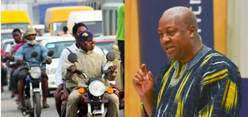 Mahama over Okada legalization