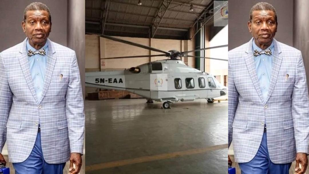 Popular Nigeria Preacher, Pastor Enoch Adeboye buys a new helicopter; church members shower him with praise