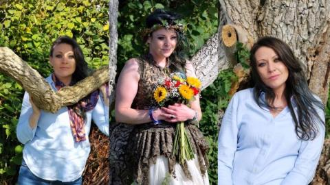Mother of two who married a tree celebrates their first wedding anniversary in England
