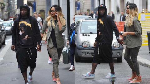 Sulley Muntari and wife Manaye Donkor welcome a new child