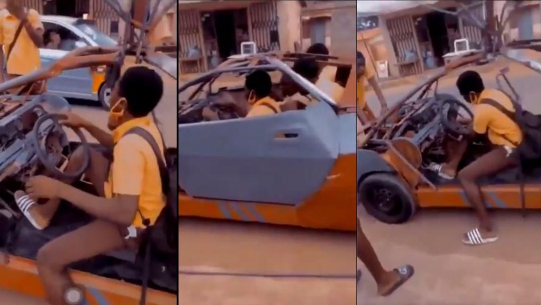 """""""JHS students build 'Ghana Bugatti' to carry them to and from school"""" – Calls for gov't support intensifies [Video]"""