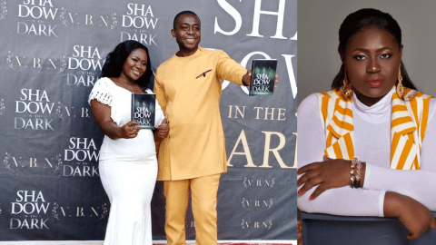 Ghanaian Blogger Vanessa Bless Nordzi Launches Her Maiden Book 'Shadow In The Dark' As MC For The Event Kafui Dey Rates It 5-Star