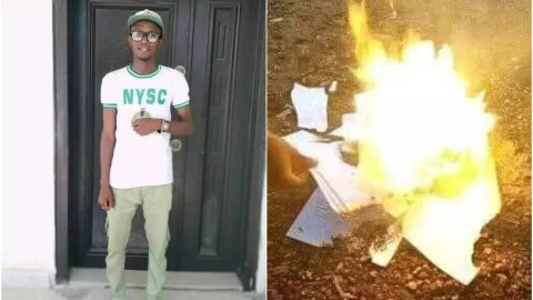 Graduate Burns All His Certificates Out of Frustration Because He Can't Find A Job