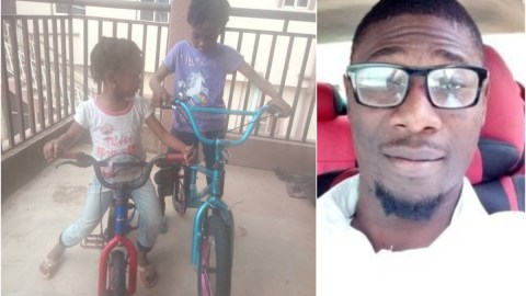Man Buys Brand New Bikes For His Daughters After Nigerian Billionaire, Femi Otedola Ferraris For His Three Daughters