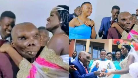 True Love: 'World's Ugliest Man' marries a third wife in a beautiful wedding ceremony in Uganda