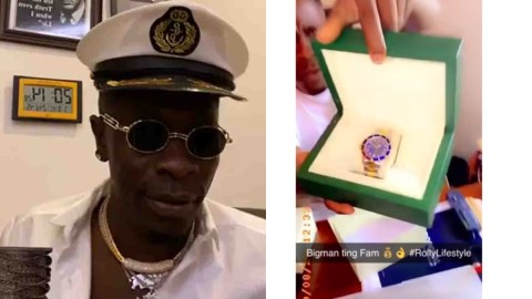 Shatta Wale Won't Kill Us: Watch Him As He Displays His Brand New Diamond Rolex Watch While Using A Diamond Tester To Prove It's Real
