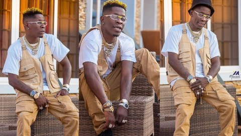 Is Shatta Wale Endorsing 4More 4Nana By Wearing 4 Wrist Watches At The Same Time?- See These Photos