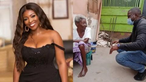 Yvone Okoro Applauds John Dumelo For His Door To Door Campaign With The Elderly