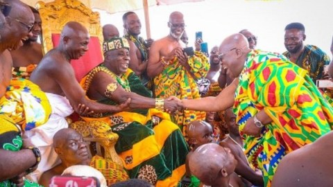 """You will remain in office until 2024"" – Okyenhene endorses '4 More 4 Nana'"