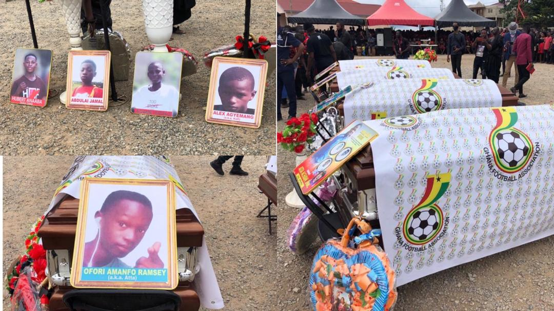 Funeral held for juvenile footballers who died in Offinso accident