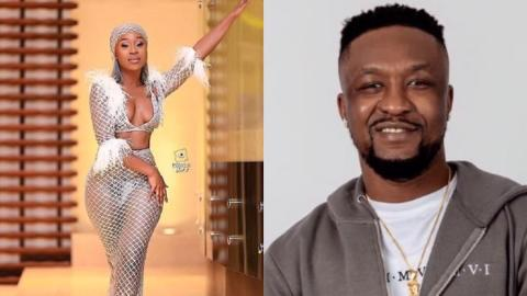 Efia Odo and Archipalago fight dirty on social media over comment on her nude photo