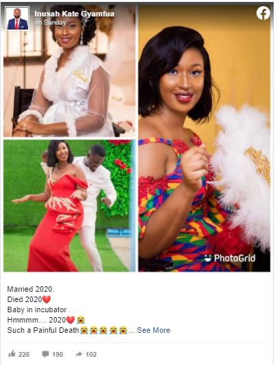 2020 Just Got Worst: Ghanaian Bride Who Got Married In Lavish Wedding A Few Months Ago Dies During Childbirth (Photo + Video)