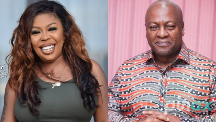 Afia Schwar alleges Mahama has a Kenyan side chick; drops video of the woman living in plush mansion