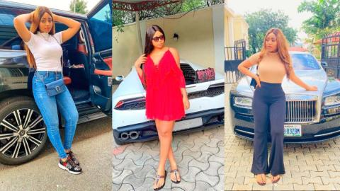 7 luxury cars Nollywood star Regina Daniels has flaunted since getting married to billionaire Ted Nwoko