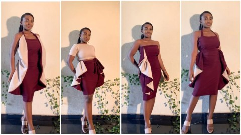 Female tailor sews beautiful gown that can be worn in 6 different styles [Photos]