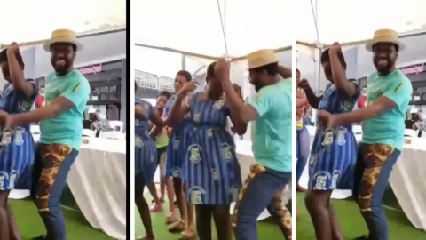 An Over-Excited Abeiku Santana Goes 'Crazy' In The Midst Of SHS Girls