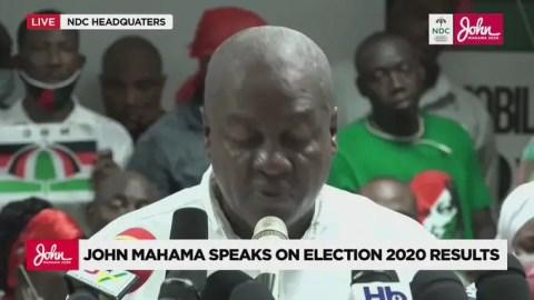 Ghana Election 2020: John Mahama's Address On The 2020 Election Verdict By EC – Read The Full Text