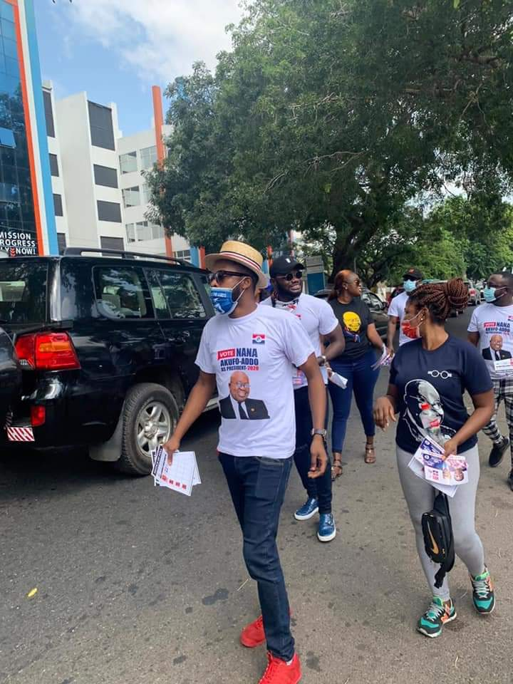 EoO7nweWEAEUWIP - Kalybos spotted at Ayawaso West Wuogon campaigning for Nana Addo