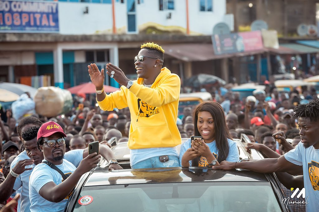 """""""Use your thumb and not the arms"""" – Shatta Wale calls for peace ahead of December 7 polls"""