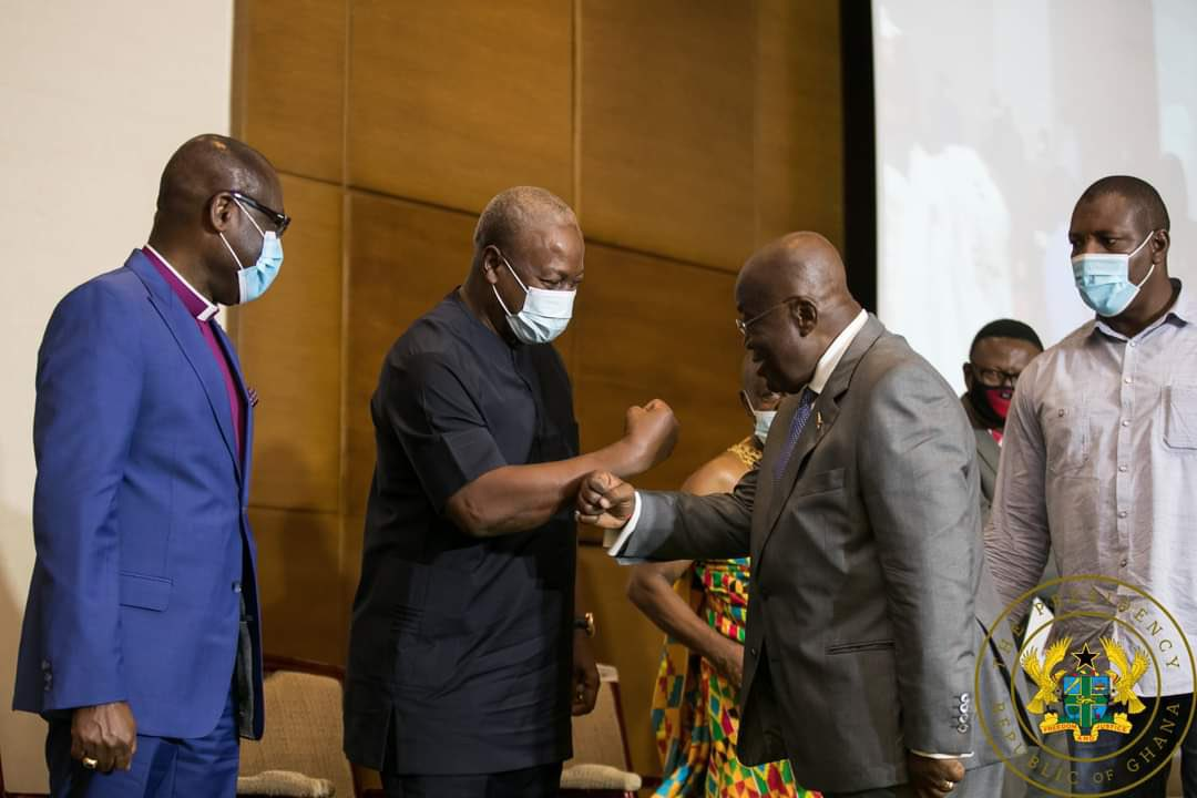 Mahama and Akufo-Addo agree on peace for December 7 polls