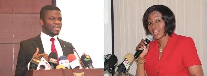 Sammy Gyamfi and Jean Mensa