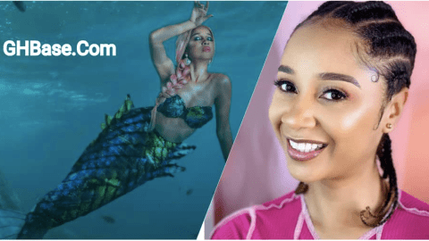 Photo: Ghana's certified mermaid, Sister Derby successfully turns into sea goddess, Maame Water