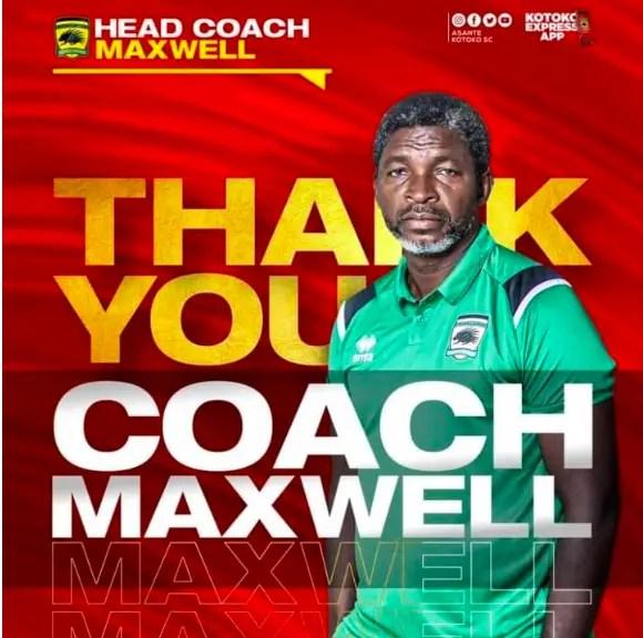 Asante Kotoko FC Sacks Coach Maxwell Konadu