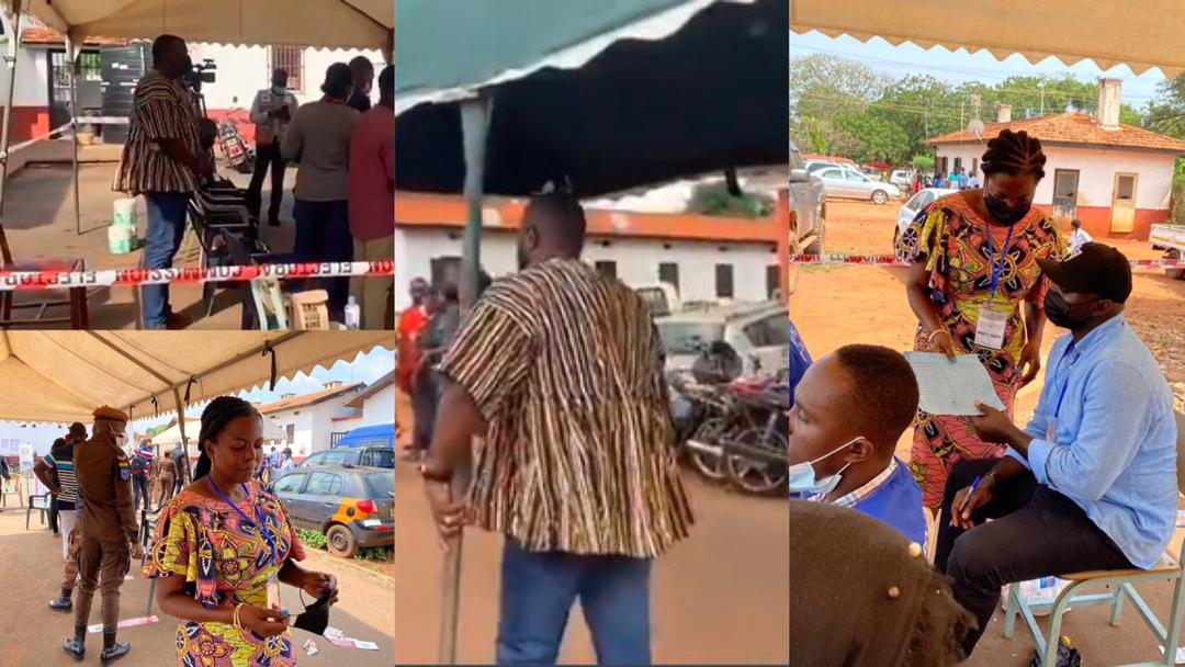 Ghana Election 2020: John Dumelo and Lydia Alhassan turn party agents as they patrol special voting exercise with eagle eyes