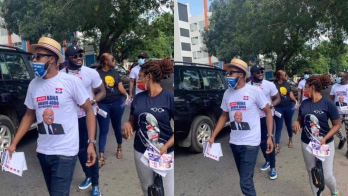 Kalybos, Prince David Osei, other celebs campaign against John Dumelo in the Ayawaso West constituency