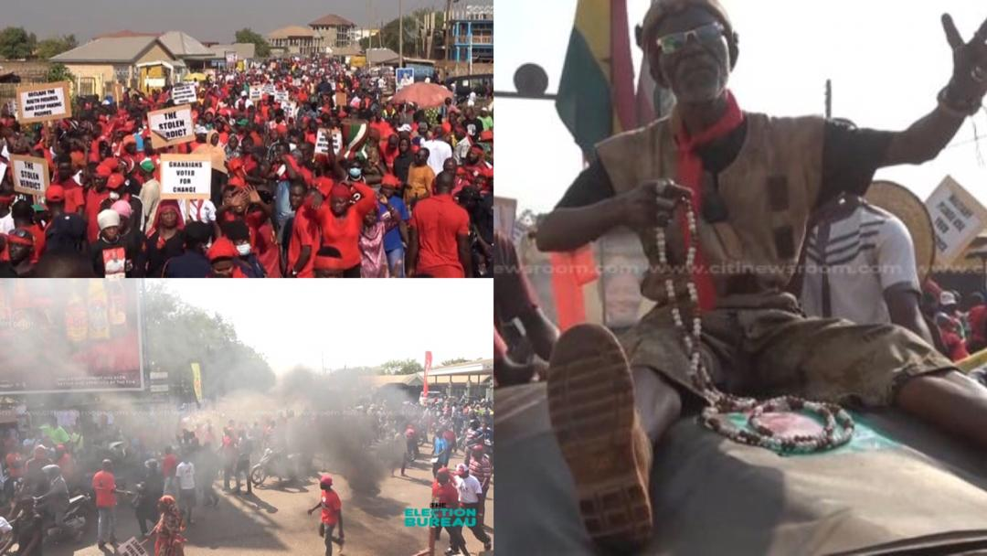 """""""Ghanaians voted for change"""" – NDC supporters stage heavy protest in Tamale against 2020 election results [Photos]"""
