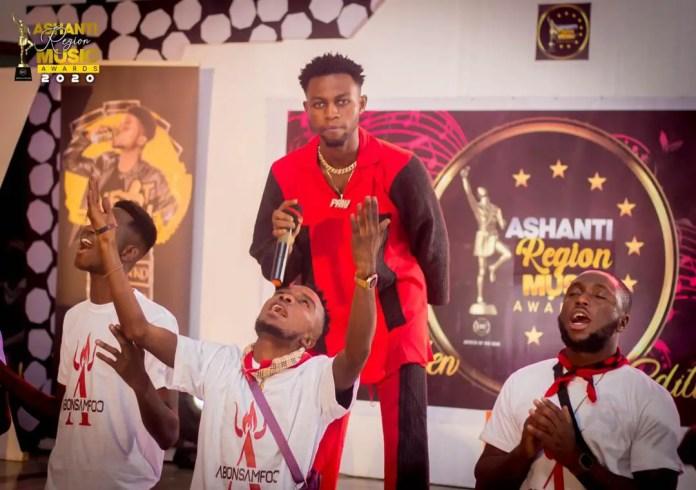Kweku Flick at the 2020 Ashanti Region Music Awards