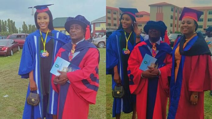 Man and his two daughters have their graduation ceremony on the same day [Photos]