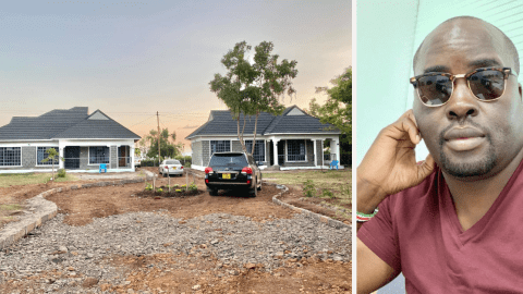 Polygamous Entity: Kenyan man builds two identical houses for his two wives; netizens react